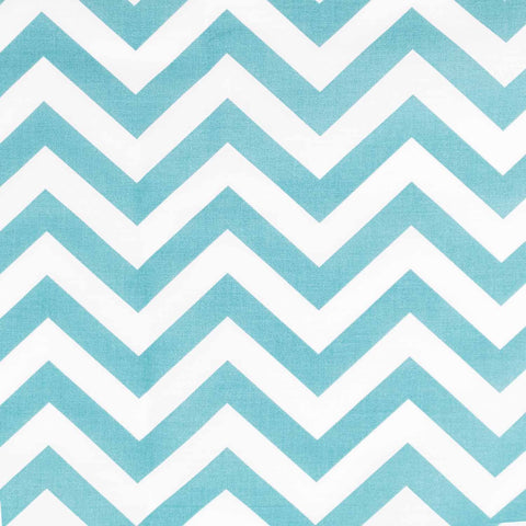 Aqua Blue Chevrons Basket Liner - Beach & Dog Co.