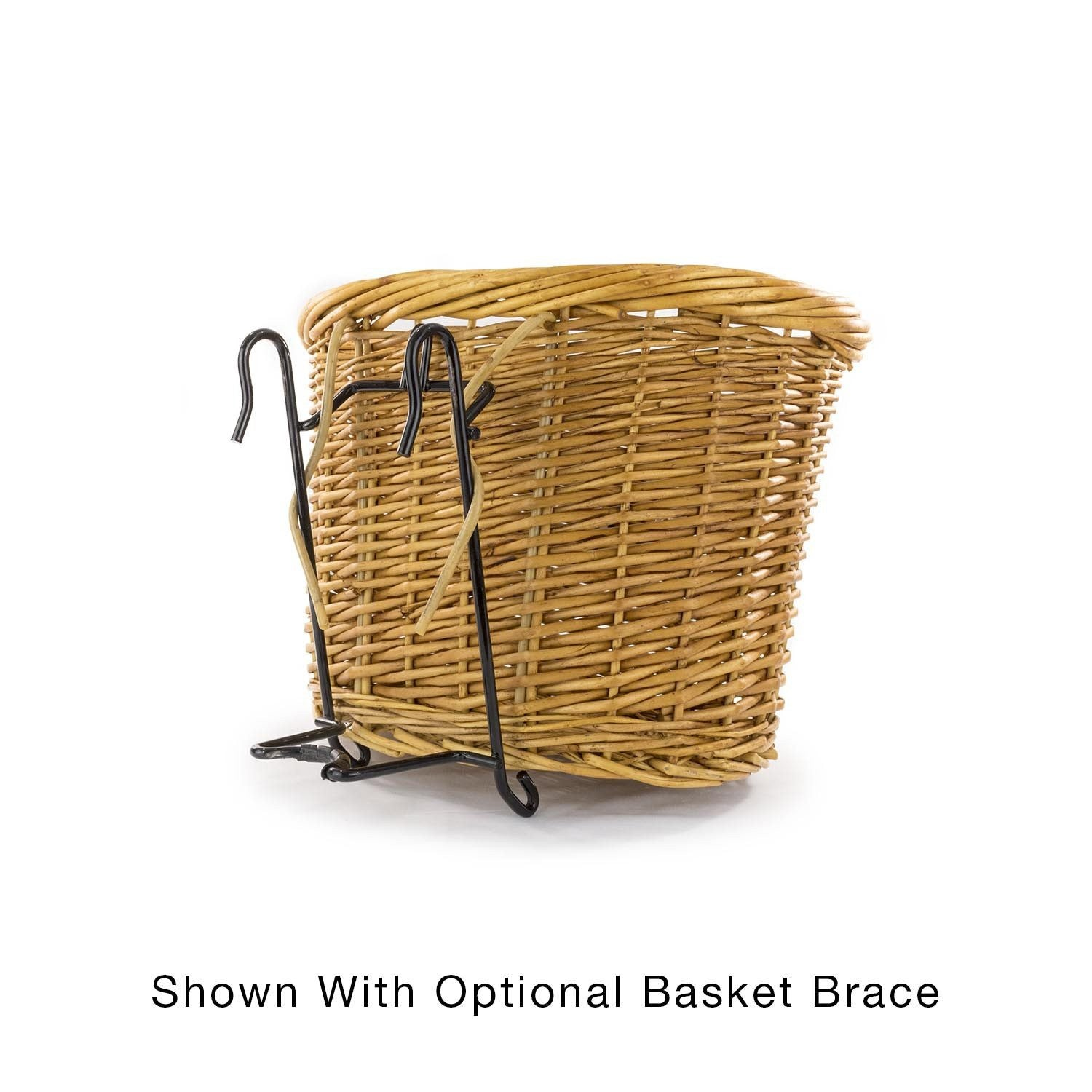 Arroyo Beach Front Mount Bike Basket with optional basket brace - Beach & Dog Co.