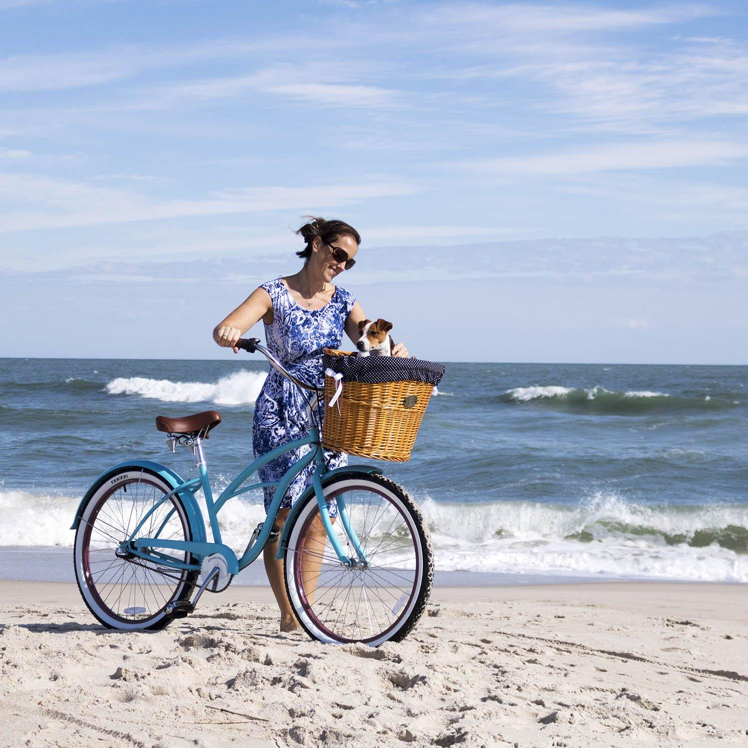 Assateague Front Mount Bike Basket - Beach & Dog Co.