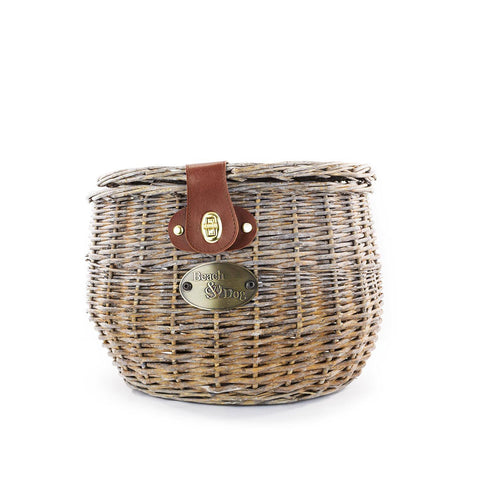 Barnegat Front Mount Bike Basket (Natural) - Beach & Dog Co.