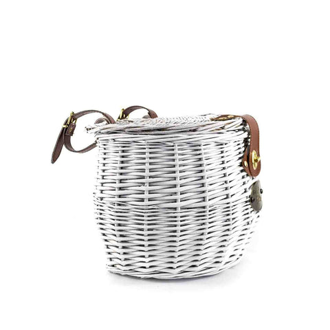 Barnegat Front Mount Bike Basket (White) - Beach & Dog Co.
