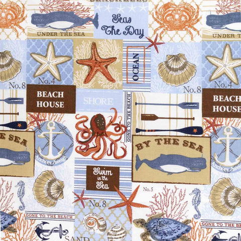Beach Signs and More Basket Liner - Beach & Dog Co