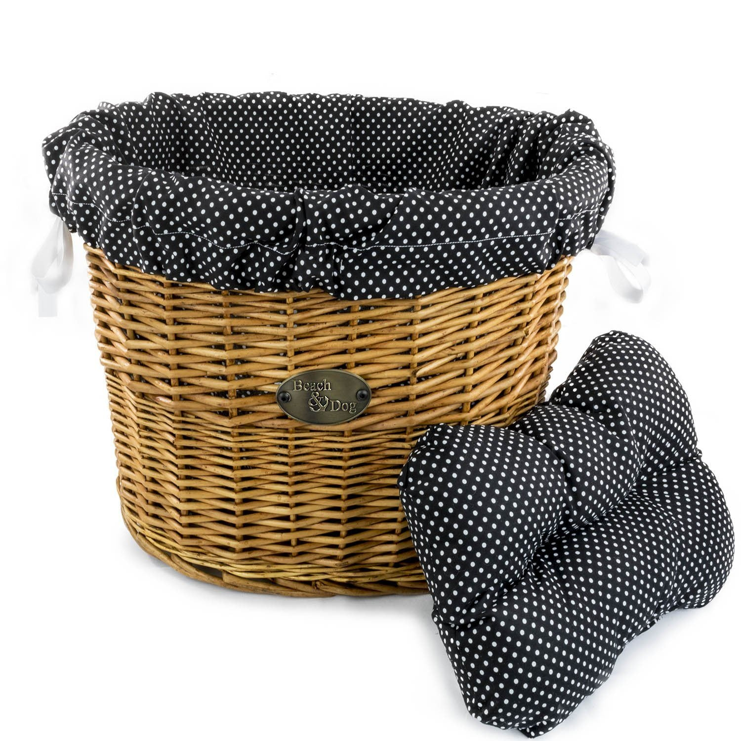 Black Polka Dots Basket Liner - Beach & Dog Co.