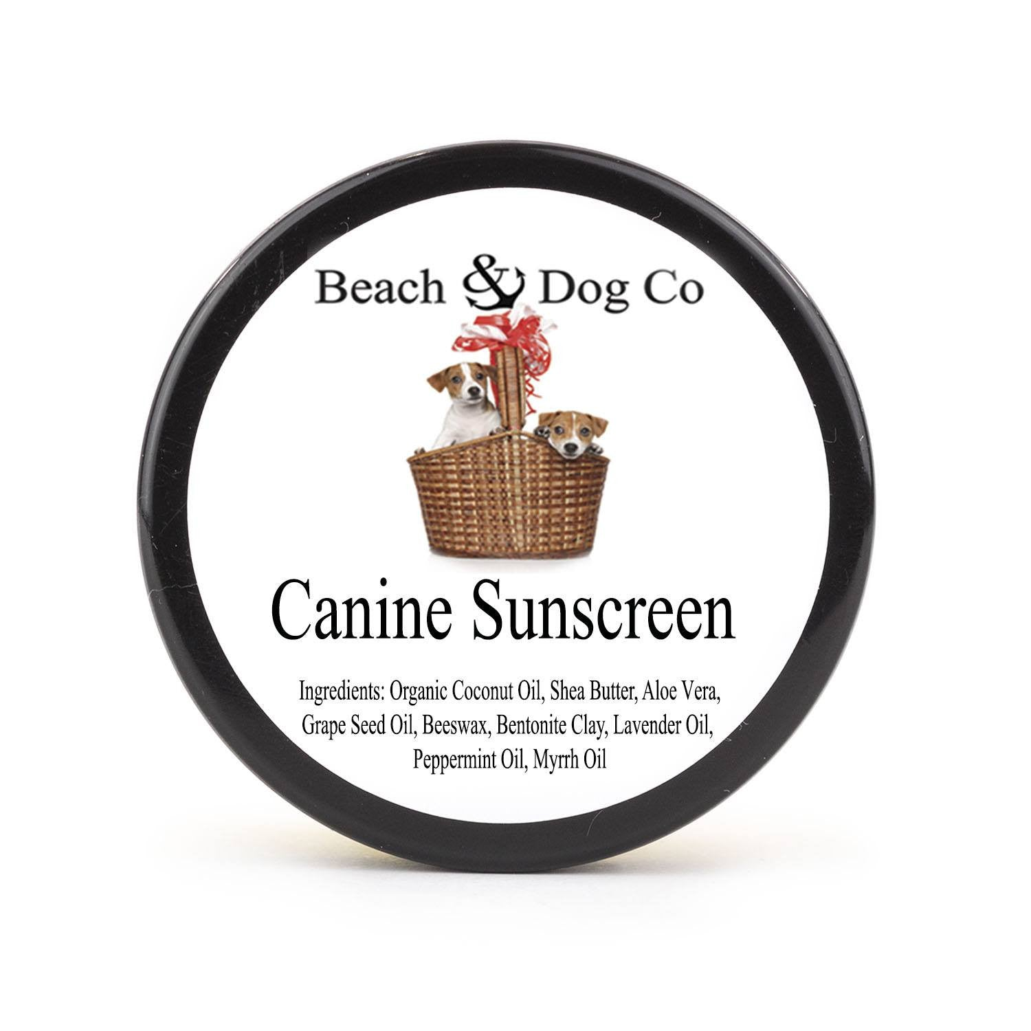 Canine Sunscreen - 2 oz - Zinc and Titanium Dioxide Free - All Natural and Organic Formula - Beach & Dog Co.
