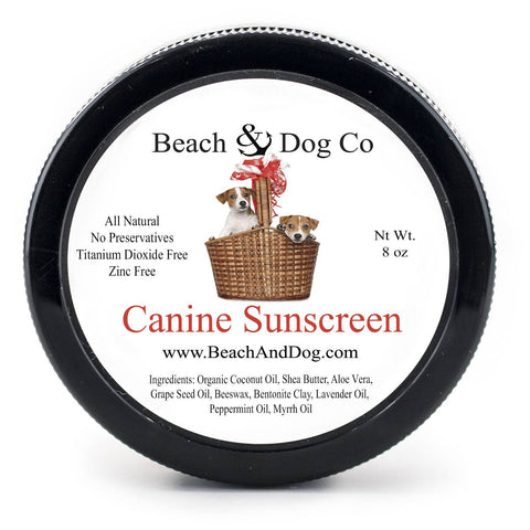 Canine Sunscreen - 8 oz - Zinc and Titanium Dioxide Free - All Natural and Organic Formula - Beach & Dog Co.
