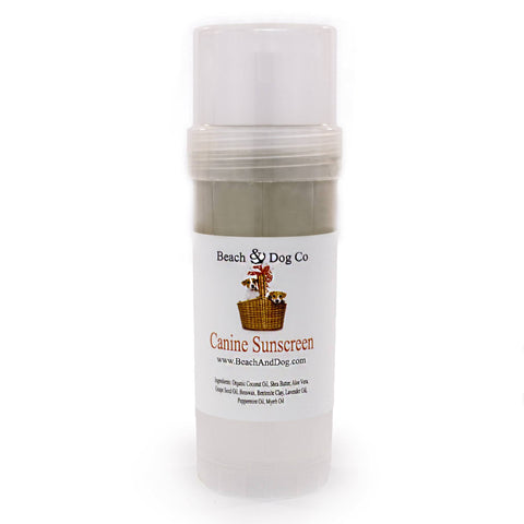 Canine Sunscreen - 2 oz Twist Up - Zinc and Titanium Dioxide Free - All Natural and Organic Formula - Beach & Dog Co.