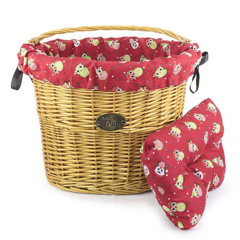 Christmas Owls Basket Liner - Beach & Dog Co.