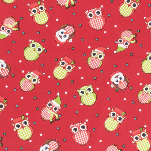 Christmas Owls Basket Liner Pattern - Beach & Dog Co.