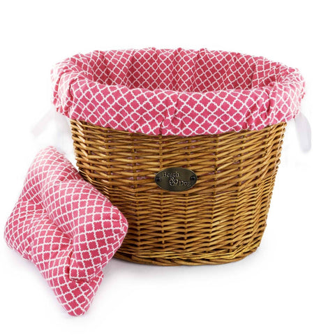 Coral Quilt Basket Liner - Beach & Dog Co.