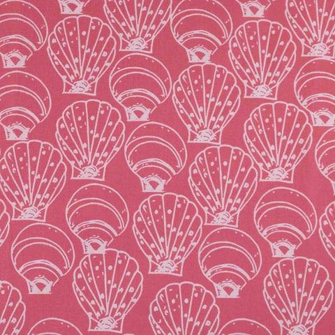 Coral Seashells Basket Liner - Beach & Dog Co.