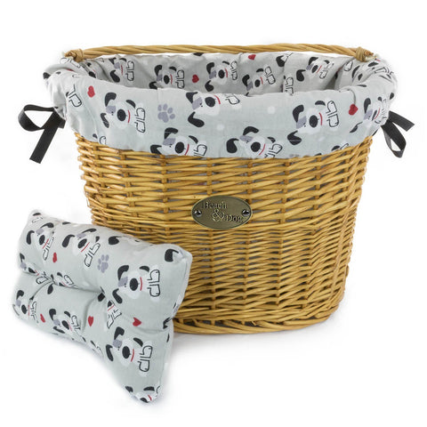 Dogs, Hearts, and Paws Basket Liner - Beach & Dog Co