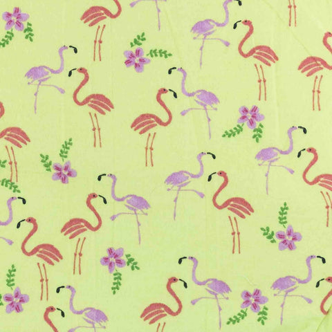 Beach & Dog Co. - Flamingos on Chartreuse Basket Liner