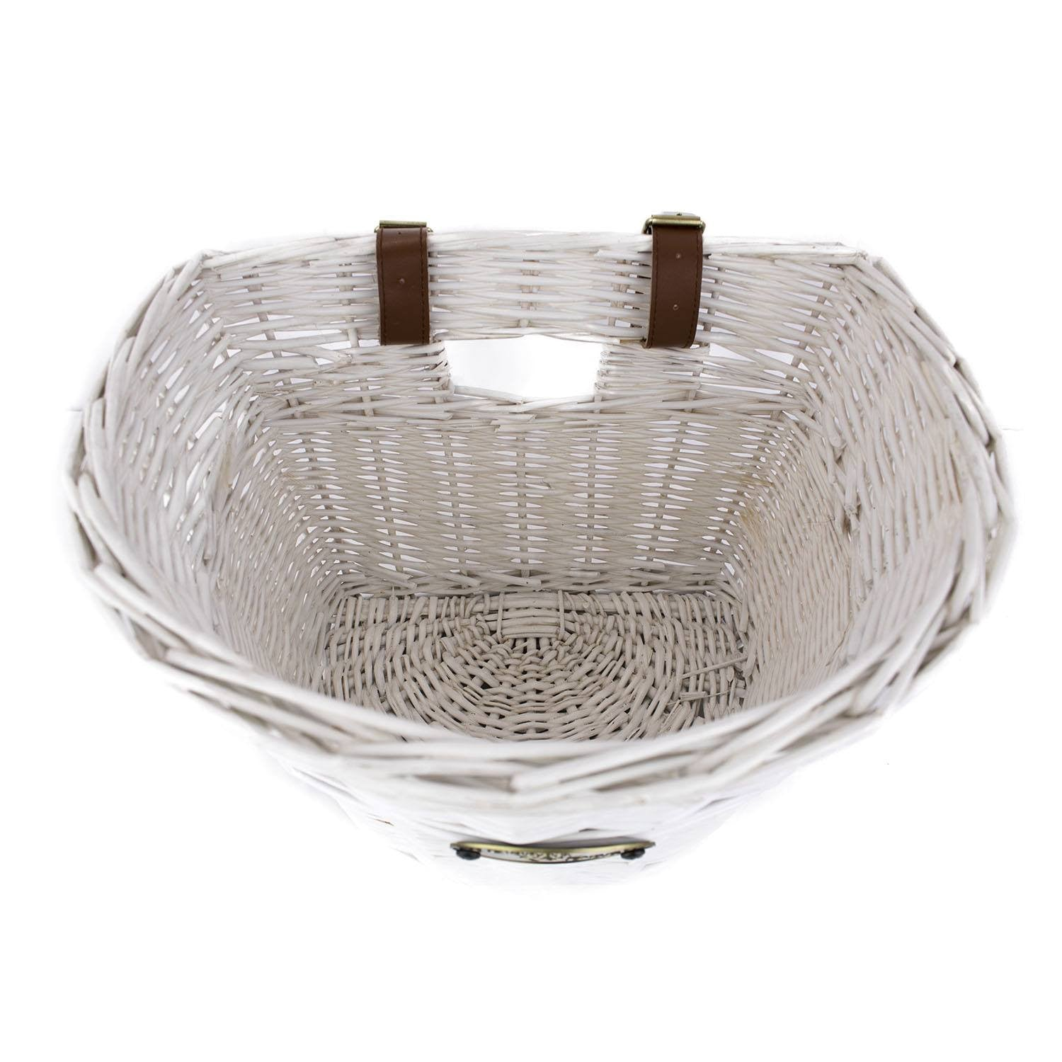 Laguna Front Mount Bike Basket (White) - Beach & Dog Co.