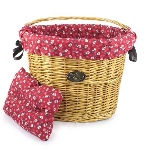 Frosty Snowmen Basket Liner - Beach & Dog Co.