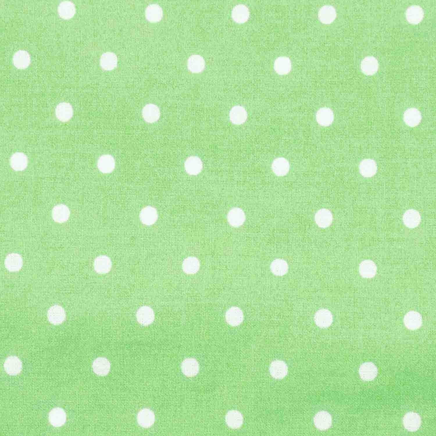 Light Green with White Polka Dots Basket Liner - Beach ...