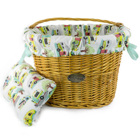 Lets Go Camping Basket Liner - Beach & Dog Co.