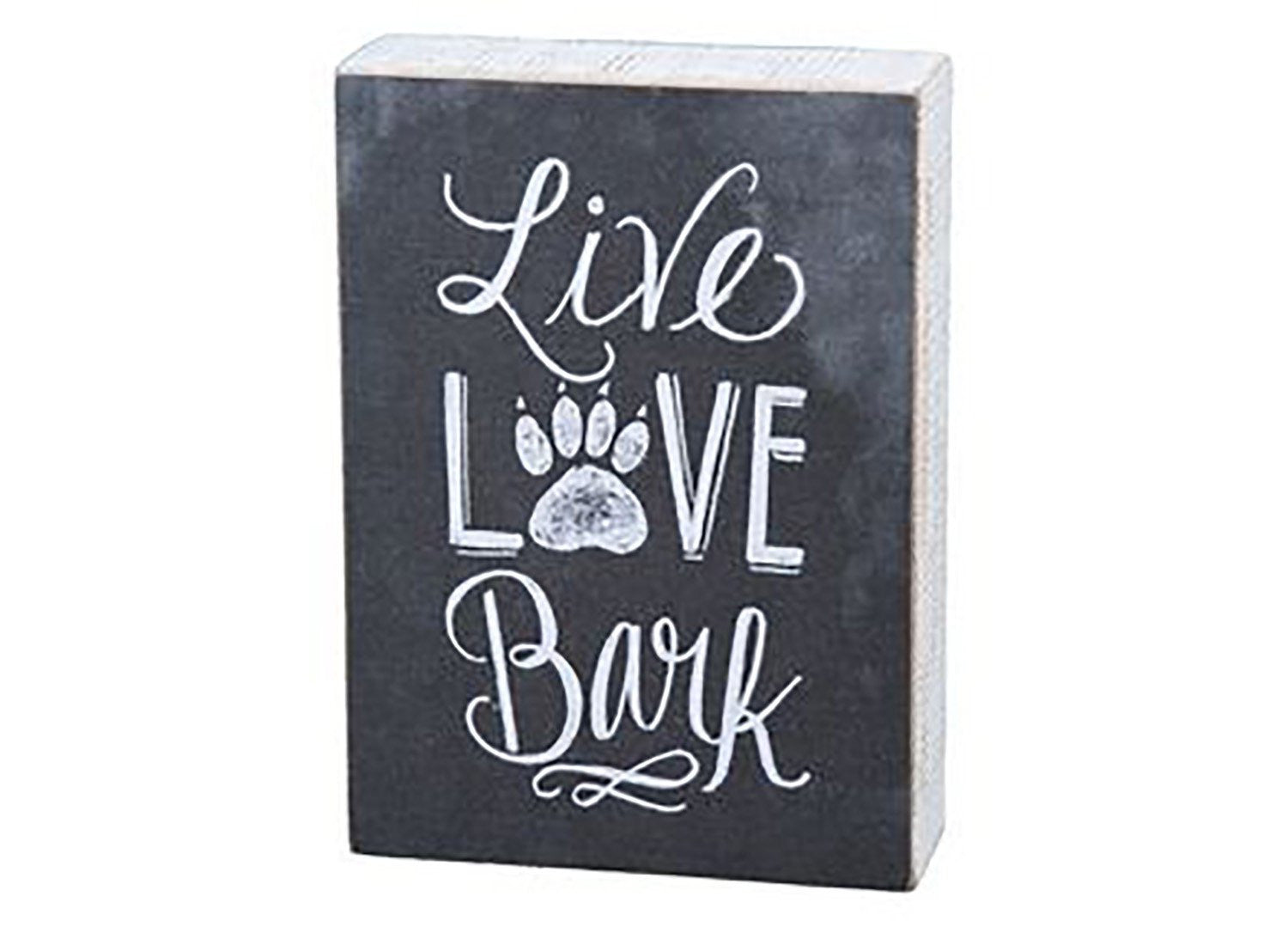 Box Sign - Live, Love, Bark - Beach & Dog Co.