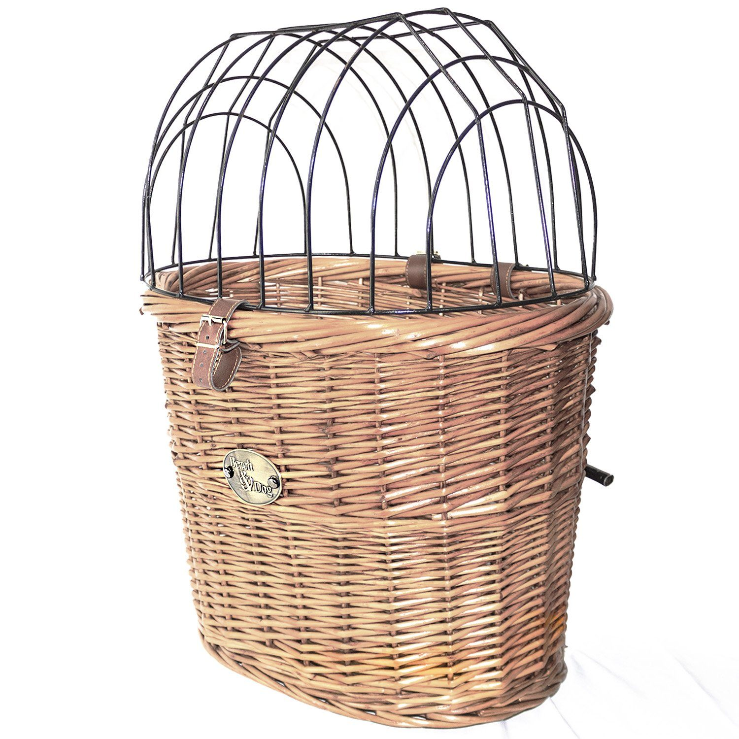 Monterey Front Mount Bike Basket With Cage