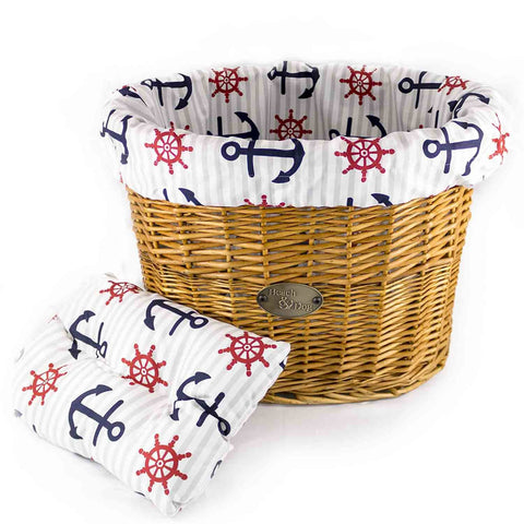 Nautical Basket Liner - Beach & Dog Co.