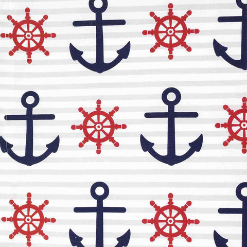 Anchors Away Basket Liner - Beach & Dog Co.