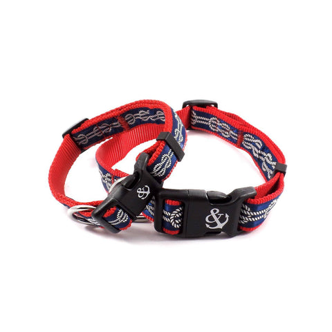 Pink and Blue Anchors Collar