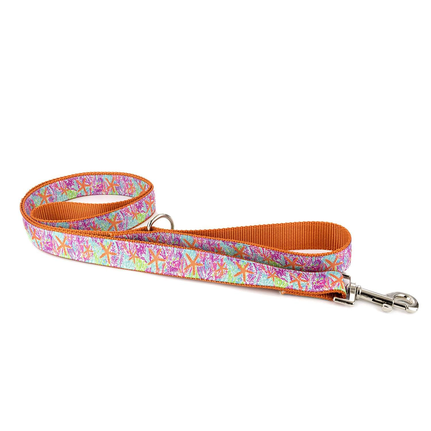 Tangerine Starfish Leash - Beach & Dog Co.