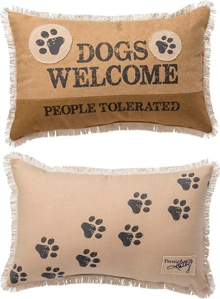 Decorative Pillow - Dogs Welcome People Tolerated - Beach & Dog Co.
