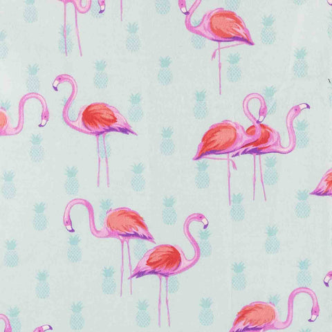 Pink Flamingos on Tiffany Basket Liner - Beach & Dog Co.