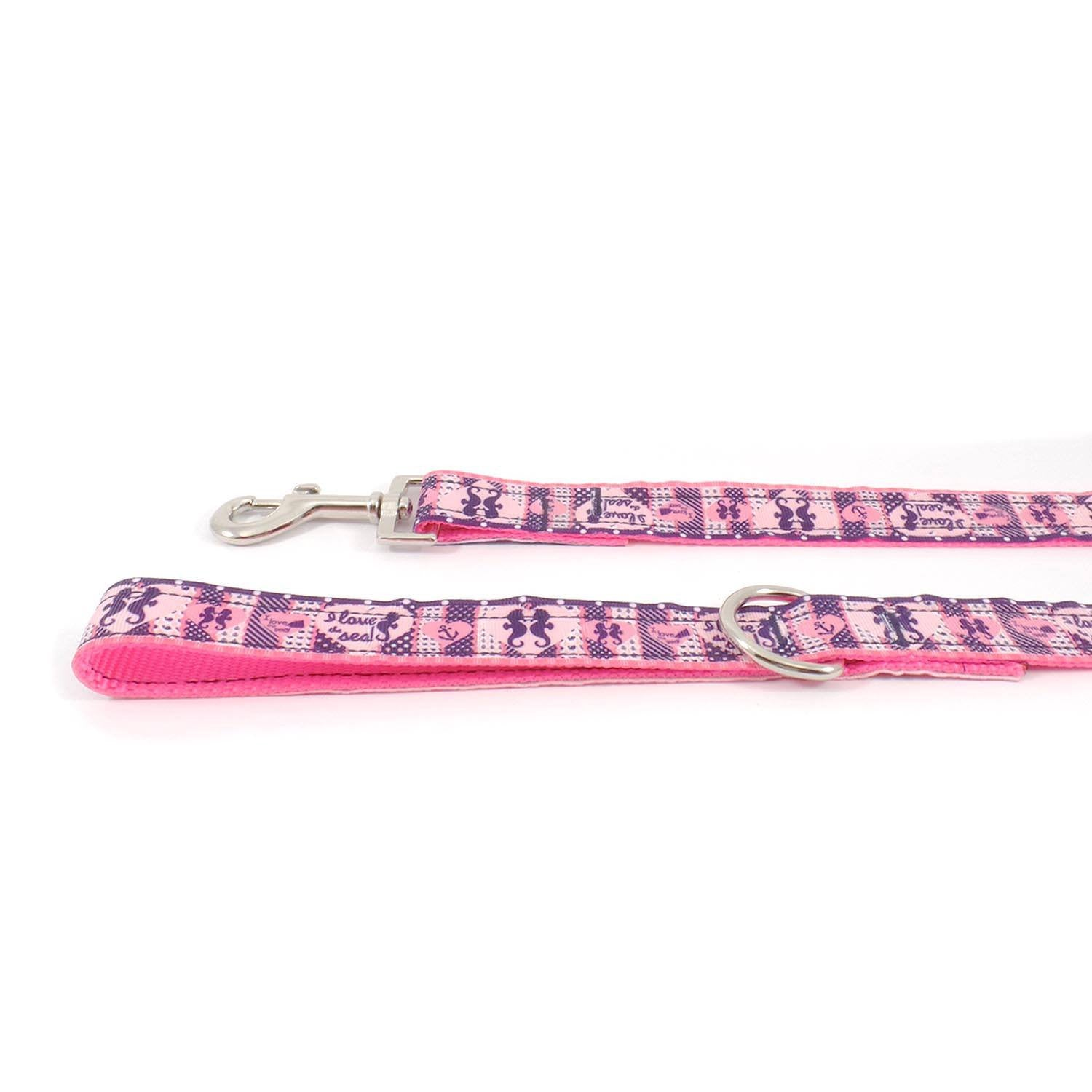 Pink Seahorses Leash - Beach & Dog Co.