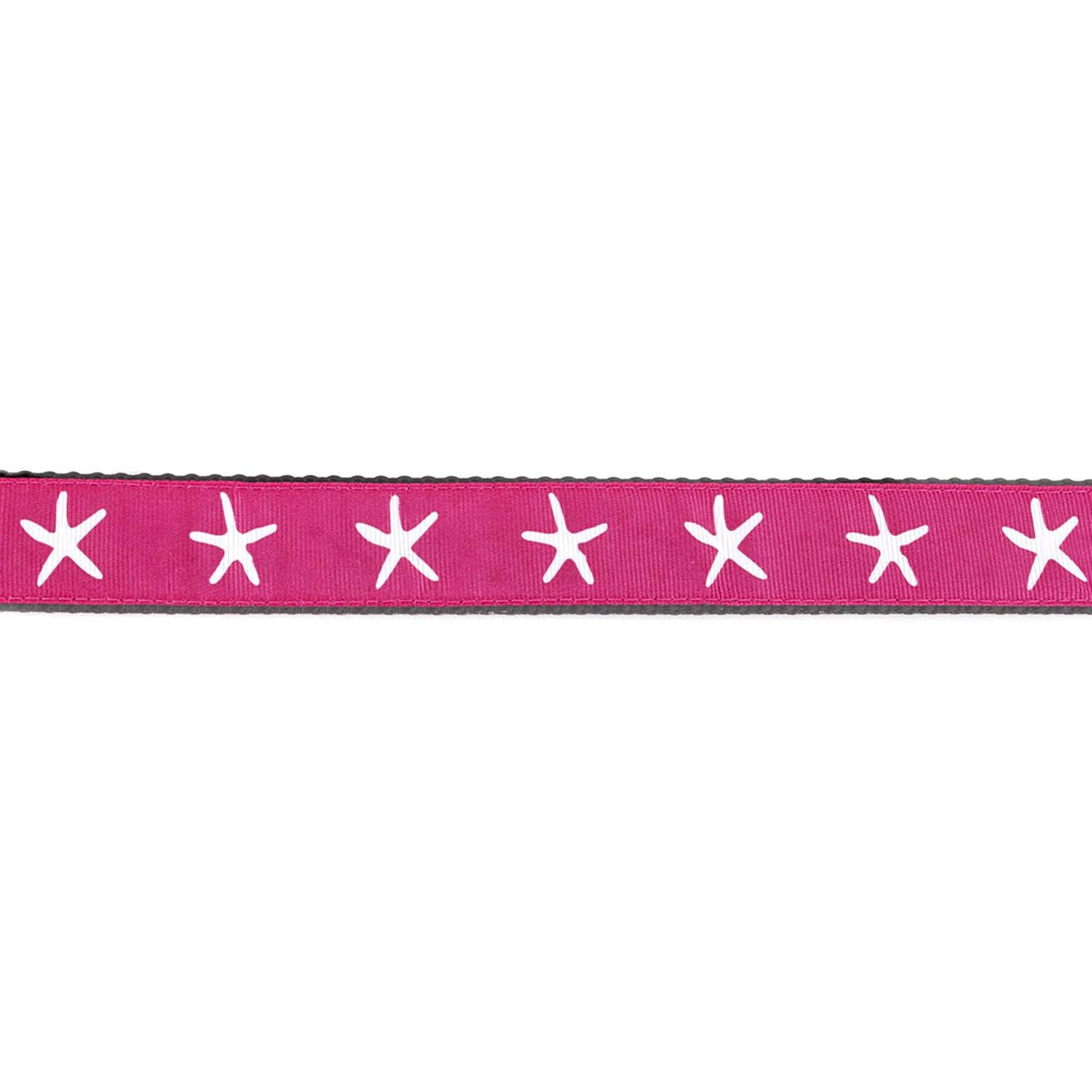 Pink and Black with White Starfish Collar - Beach & Dog Co.