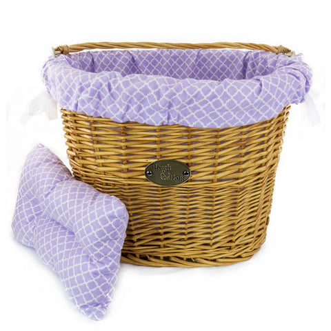 Playful Purple Basket Liner - Beach & Dog Co.