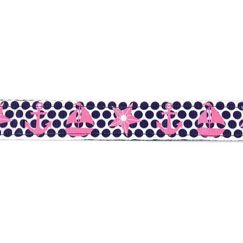 Polka Dot Blue and Pink Leash - Beach & Dog Co.