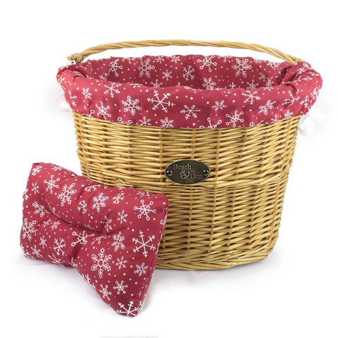 Red Snowflakes Basket Liner - Beach & Dog Co.