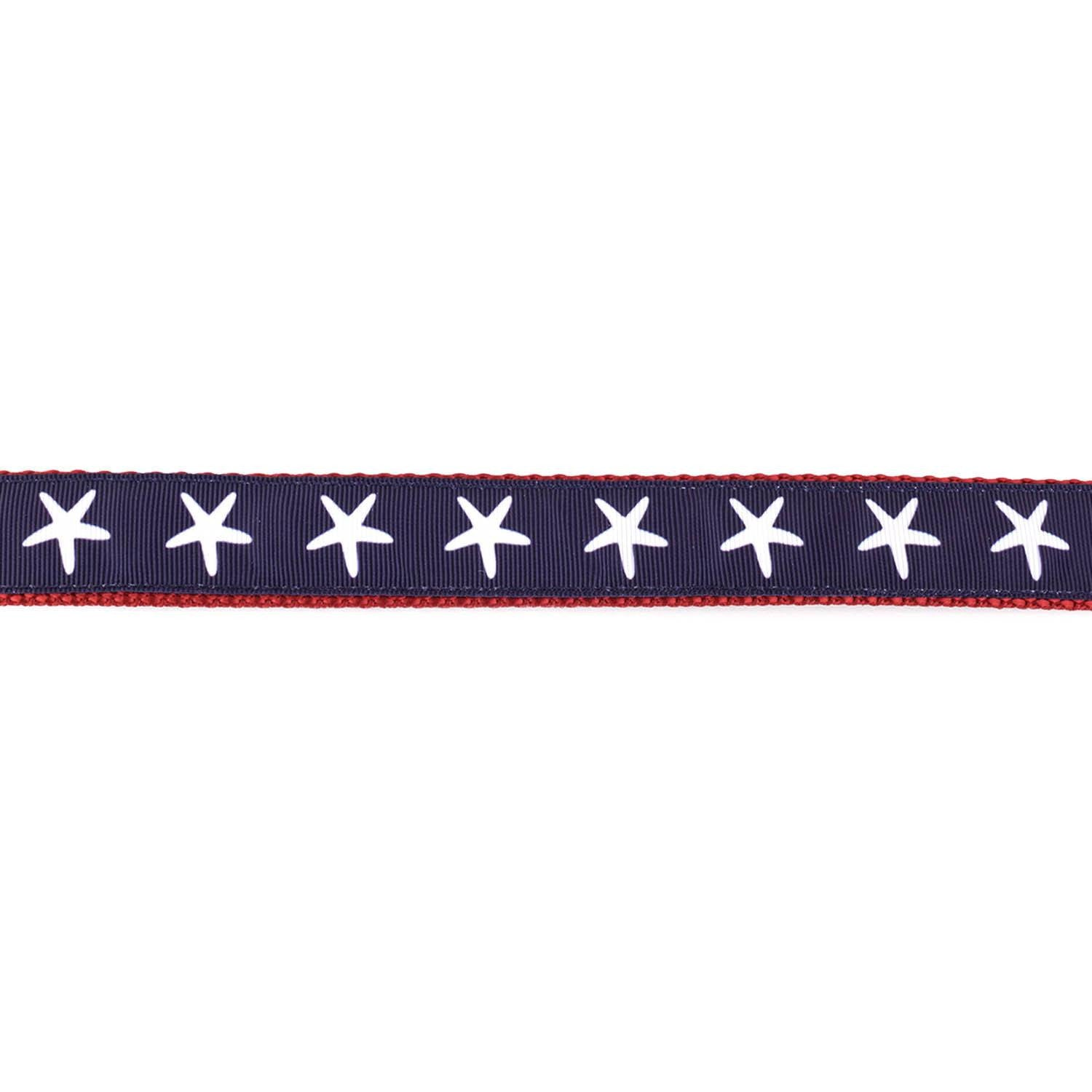 Red, White, and Blue Starfish Collar - Beach & Dog Co.