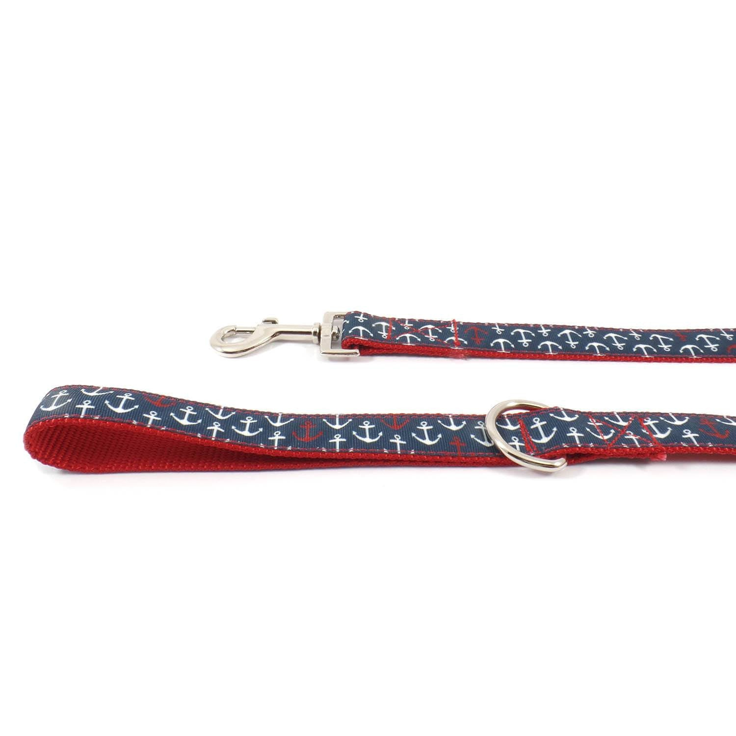 Red and Blue Anchor Leash - Beach & Dog Co.