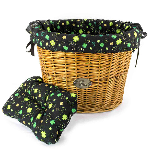 Little Shamrocks Basket Liner - Beach & Dog Co.