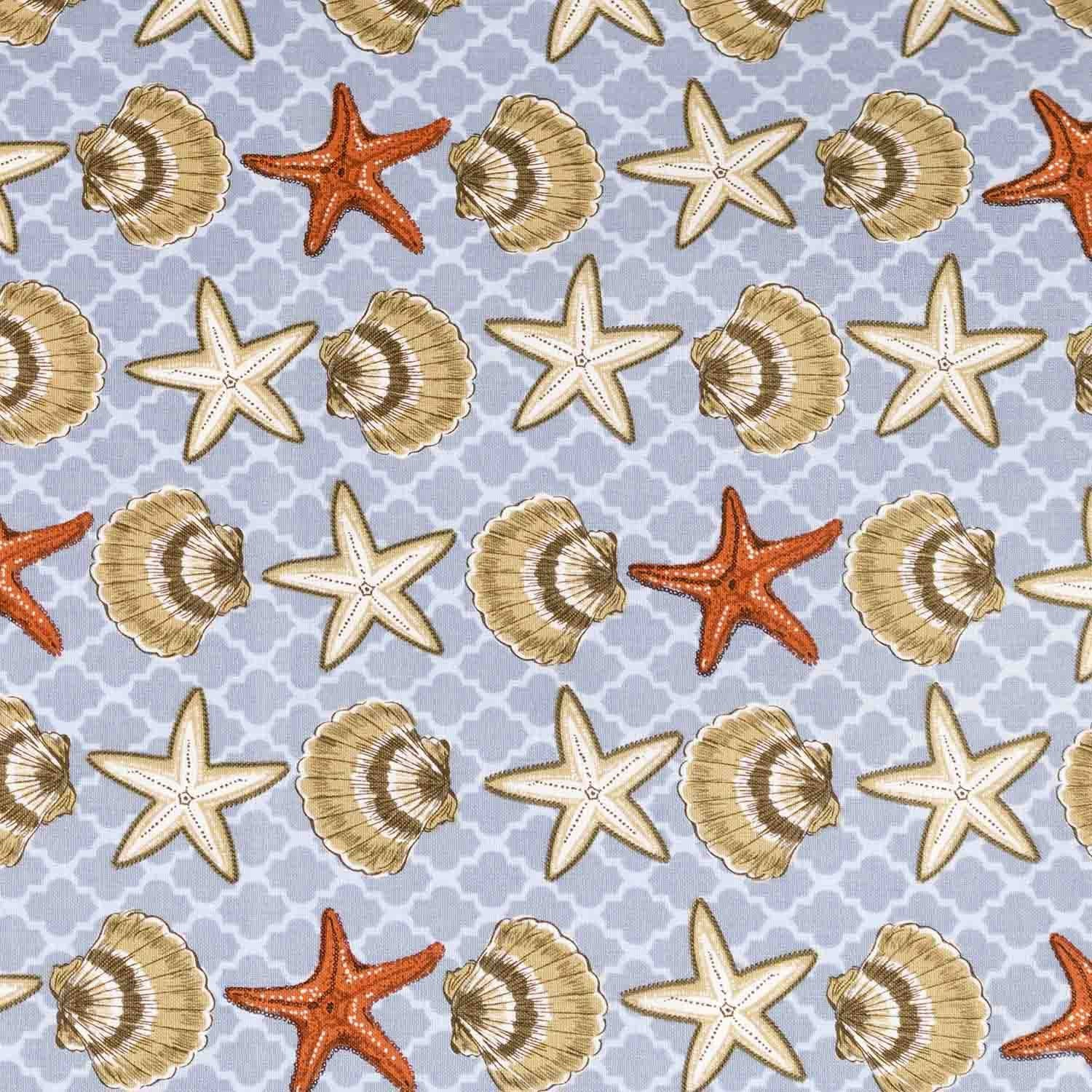 Shells and Starfish Basket Liner - Beach & Dog Co.
