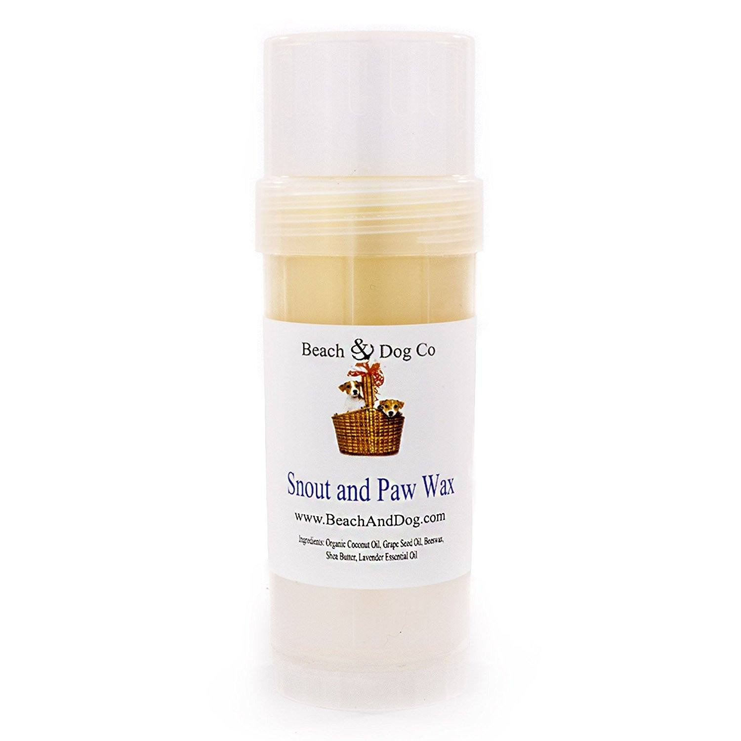 Snout and Paw Wax (2 oz Twist Up) For Dry Chapped Cracked Noses and Paws - Beach & Dog Co.