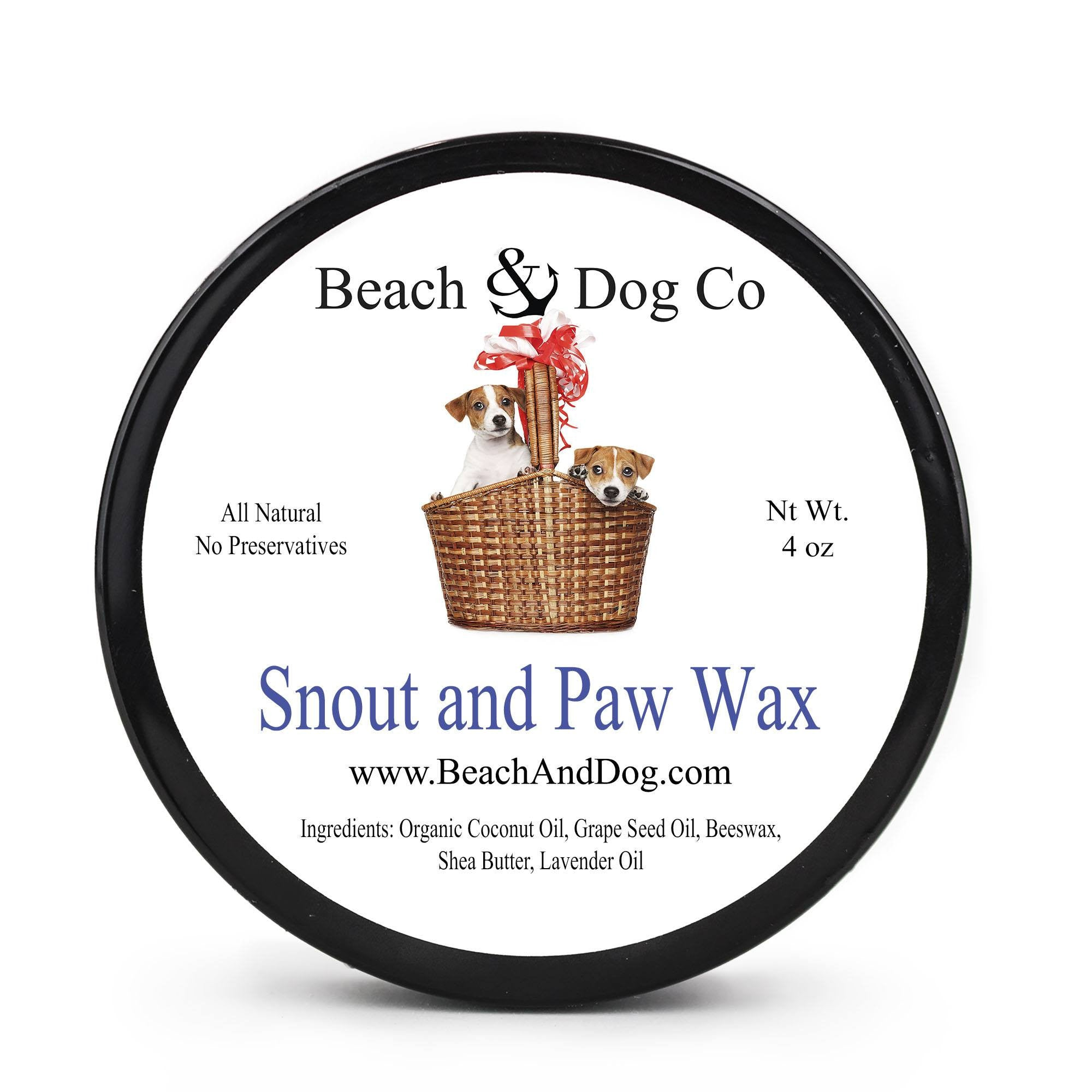 Snout and Paw Wax (4 oz) For Dry Chapped Cracked Noses and Paws - Beach & Dog Co.
