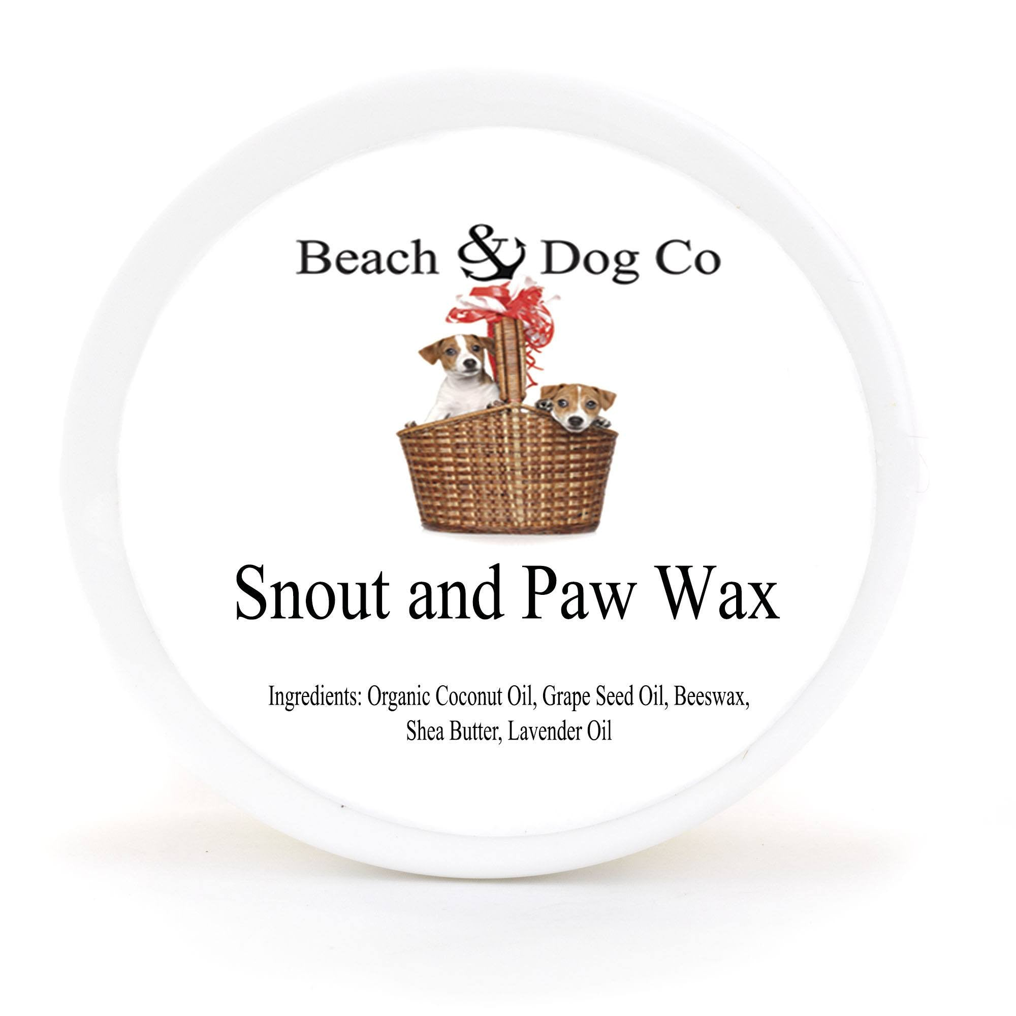 Snout and Paw Wax (2 oz) For Dry Chapped Cracked Noses and Paws - Beach & Dog Co.