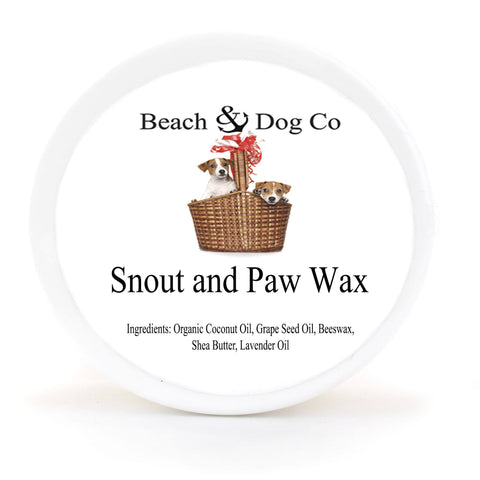 Snout and Paw Wax - 2 oz - For Dry Chapped Cracked Noses and Paws - Beach & Dog Co.