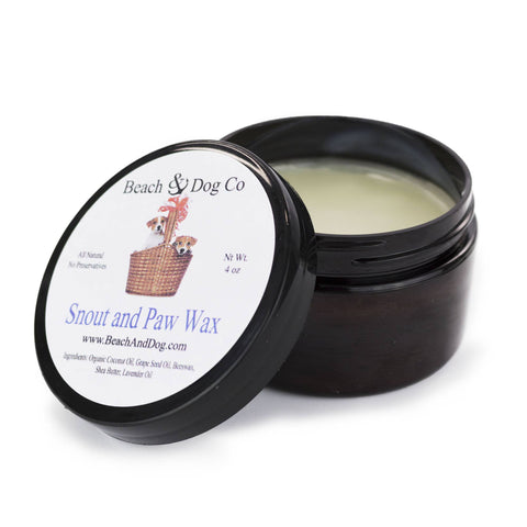 Snout and Paw Wax - 4 oz - For Dry Chapped Cracked Noses and Paws - Beach & Dog Co.
