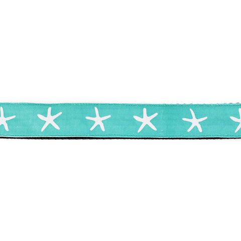 White Starfish on Aqua Leash - Beach & Dog Co.