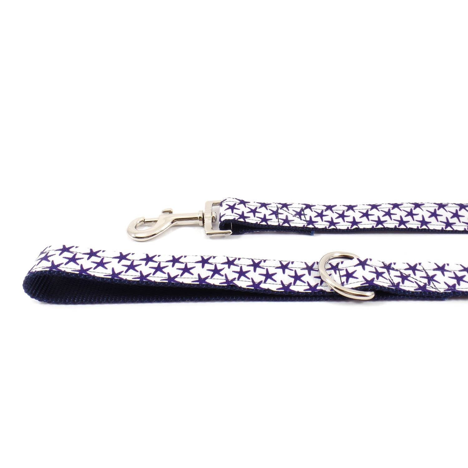 White and Blue Starfish Leash - Beach & Dog Co.