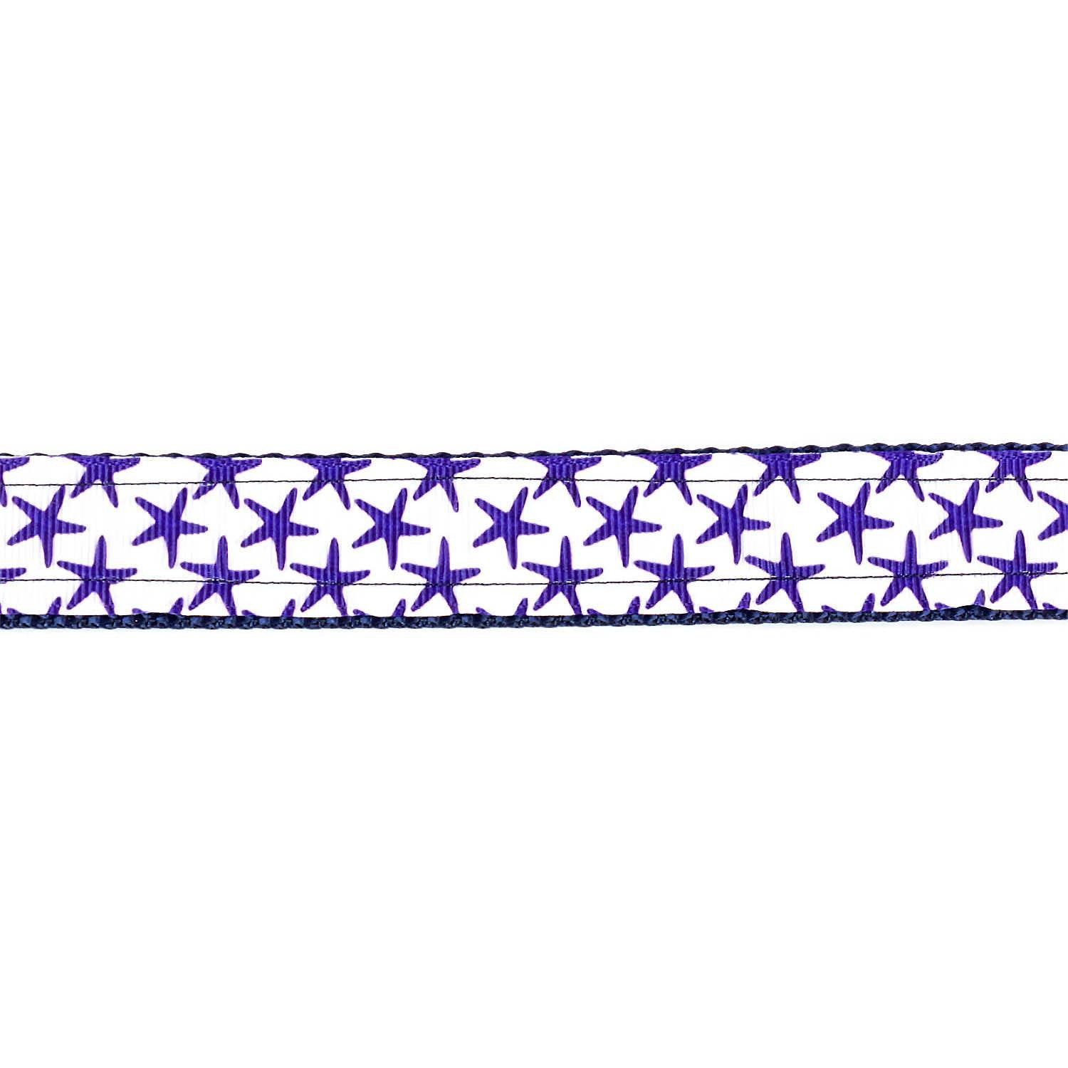White and Purple Starfish Collar - Beach & Dog Co.