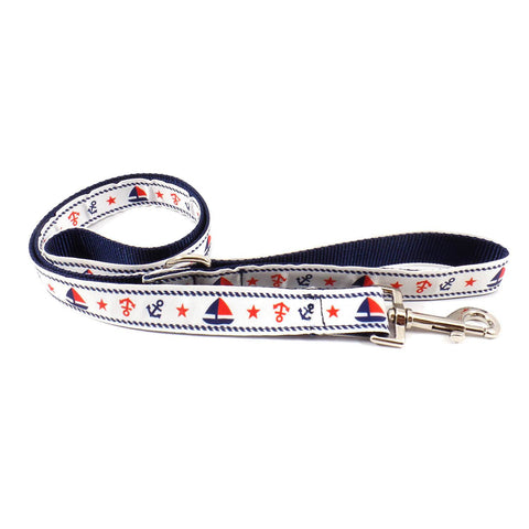 Red and Blue Anchor Leash
