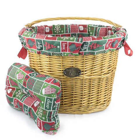X-Mas Wrapping Paper Basket Liner - Beach & Dog Co.
