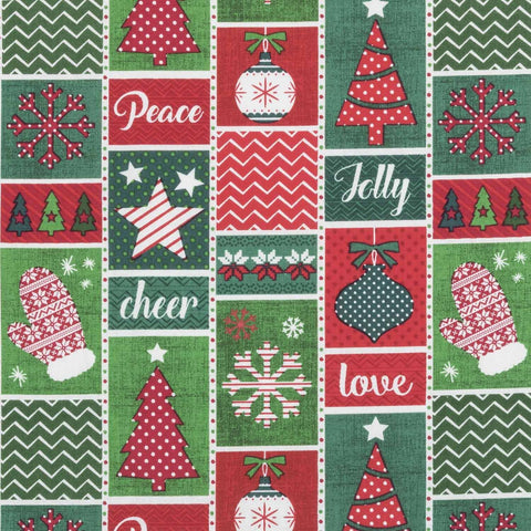 X-Mas Wrapping Paper Basket Liner Pattern - Beach & Dog Co.