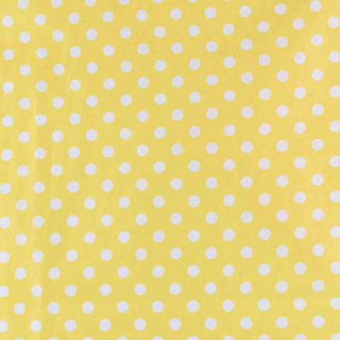 Yellow Polka Dots Basket Liner - Beach & Dog Co.