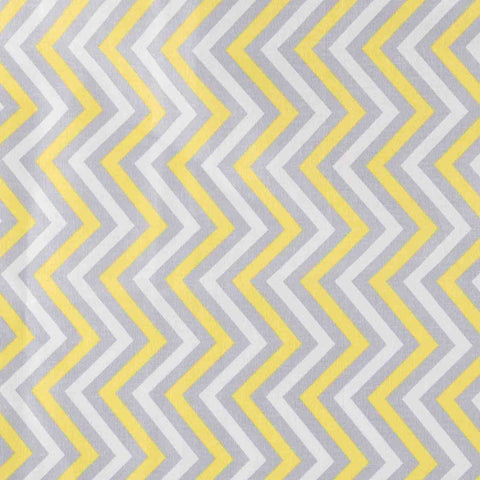 Yellow and Grey Chevrons Basket Liner - Beach & Dog Co
